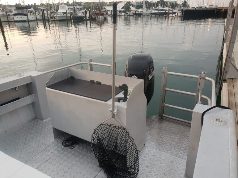 Extra Large Rigging Station and Live Bait Tank Below